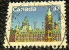 Canada 1987 Parliament Buildings 37c - Used - 1952-.... Règne D'Elizabeth II