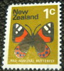New Zealand 1970 Red Admiral Butterfly 1c - Used - New Zealand