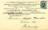 365/19 -  Carte Privée TP Héraldique BXL 1929 - Griffe De Gare BRAINE L´ALLEUD - Entete Gosselin , Travaux Publics - Poststempel