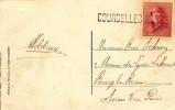 366/19 -  Carte-Vue TP Casqué TB  Griffe De Fortune Complète COURCELLES - MOTTE - Poststempel