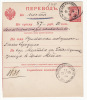 Russia 1899 Stationery Money Transfer Card 25 Kop. Michel A3 Libava To Mitava, Filing Holes As Usual (g276) - 1857-1916 Imperium