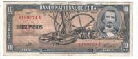 CUBA  1960   10 PESOS.CASI NUEVO.PICK Nº 89c .B014 - Cuba