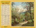 -  CALENDRIER Image Recto-Verso 1962 - Chemin Fleuri à COMBLOUX Et Matin D'été En Savoie - Calendari