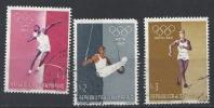 San Marino 1960 Olympische Spiele Roma Sommer Michel 645 - 647. 520-522, 589-591 - Gebraucht