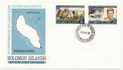 Solomon Islands FDC 24-5-1976 U.S. Bi-Centennial 1776 - 1976 With Cachet - Us Independence