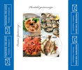 GASTRONOMY ( Croatian 4-stamp Self-adhesive Sheetlets MNH** ) SPIDER CRAB OYSTER Seashel Shell OCTOPUS GILTHEAD Fish - Coneshells