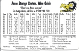 Acorn Storage Centres, Wine Guide 1981 - 1991 - Alcools