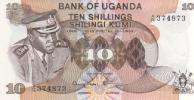 Ouganda P06c - 10 Shillings ND 1973 Idi Amin Dada - Signé 2 : Onegi-Obel Et Lukwago - Aunc - Uganda