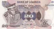 Ouganda P07c - 20 Shillings ND 1973 Idi Amin Dada - Signé 2 : Onegi-Obel Et Lukwago - Aunc - Uganda