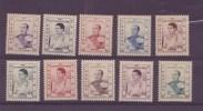 Cambodge N° 42 à 51** Neuf Sans Charniere - Cambodge