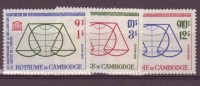 Cambodge N°141 à 143** Neuf Sans Charniere - Cambodge