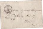 Provins (73)  1861 , Taxe Doubles Traits 30 Cts.   Ambulant : Bale /paris Au Verso... Lsc. - 1849-1876: Klassieke Periode