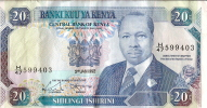 Kenya/ Billet De 20 Shillingi Ishirini/ Daniel TOROITICH/1992               BIL79 - Non Classificati