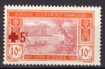 Côte D´Ivoire 1915 (AOF), Ébrié Lagoon With Overprint - Red Cross - Croix Rouge **, MNH - Ivory Coast (1892-1944)