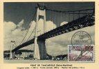 76  TANCARVILLE  Le Pont De Tancarville  1/08/59 - Maximumkaarten