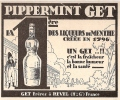 PUBLICITE ALCOOLS 1926 LIQUEUR PIPPERMINT / GET - BELLE GRAVURE - Alcools