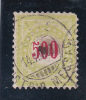 Switzerland Scott # J28a Used 500c Yellow Green Postage Due From 1884-97   Catalogue $60.00 - Zwitserland