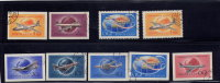 RUSSIA, 1958-9, CTO´s # 2086-7, 2147-51,   SOVIET CIVIL AVIATION , SET OF IMPERF & 2 PERF - Used Stamps