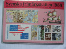 SWEDEN 1988 FULL YEAR BOOKLET  PACK SCHWEDISCHE BRIEFMARKENHEFTCHEN - Schweden