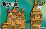 CARTE-PREPAYEE-DTSS-DAYAN AA-75U-30/6/2000-BIG BEN-MOSCOU-V°-2 Autocollants N° Télé-Code Sur Fond Blanc-TBE - Autres Prépayées