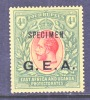 British German East Africa  N118  *  SPECIMEN - Kenya, Uganda & Tanganyika