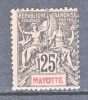 Mayotte  10  Perf  14 X 13 1/2  * - Mayotte (1892-2011)