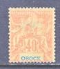 Obock  41    Perf  14 X 13 1/2   * - Obock (1892-1899)