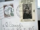 CARD VIAGGIATA REGOLARMENTE CON 100 L BUSTO ARSIZIO MADONNA AIUTO  ANNO MARIANO + 500 CASTELLI STORIA POSTALE  DV2018 - 6. 1946-.. Repubblica