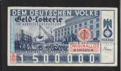Lotterielos 1 Mark 1934 - Billets De Loterie