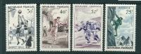 France 1956 Sports Set Sg 1297-1300, Scott 801-804,  MM - France