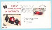 Flamme JOUR D'EMISSION Cachet MONTE-CARLO 1967 - XXXVe Grand Prix Automobile De MONACO - Monaco