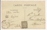 S595 - TAXE 20 Ctes A PERCEVOIR - VERZENAY  - 1924 - Pour L'AISNE - - Lettres Taxées