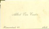 Visitekaartje - Aalst - Albert Van Cauter, Hovenierstraat 60 - Cartes De Visite