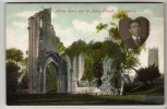 Somerset - Glastonbury Abbey - St John's Church With Photo Insert - Postcard - England