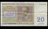 Billet De Banque - Belgique - 20 Francs - 1956 -Type Trésorerie - [ 6] Staatskas