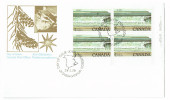 1979  Fundy National Park  $1 Definitive Sc 726  Plate Block Of 4 - First Day Covers