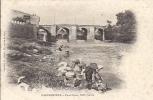 Cpa Carcassonne, Pont Vieux, Lavandières, Laveuses, En L'état - Carcassonne