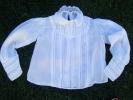 Chemisier  Blanc Ancien    Fillette------   Largeur Epaule A Epaule  30 Cm -plis Religieux -ou Haut De Communiante-linon - 1900-1940