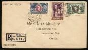 1938 British Honduras. Registered FDC Cover Sent To Canada. Belize. British Honduras 10.JA.38.   (H181c001) - British Honduras (...-1970)