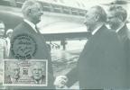 CM-Carte Maximum Card # France-1988 # Histoire # Coopération Franco-Allemande #DeGaulle,Adenauer # Paris - Maximumkaarten