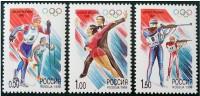 RUSIA 1998  - JJOO DE NAGANO  - YVERT  6329-6331 - Invierno 1998: Nagano