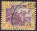 MALAYSIA FMS 1922 30c Tiger SG 71 U XK236 - Federated Malay States