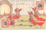 JAPAN : GEÏLLUSTREERDE KAART  Met Zegels JAPAN (Y&T) Nr  145 + 146  (uitgifte 1915). - Ohne Zuordnung