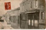 Cpa 76 SAINT-ETIENNE-du-ROUVRAY La Crue De La Seine Rue De L'industrie Environs De Rouen 2 Février 1910 - Saint Etienne Du Rouvray