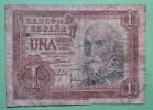 Banknote Geldschein Spanien 1 Peseta 1953 - [ 3] 1936-1975 : Régence De Franco