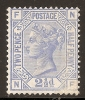 Grande-Bretagne (GB) Victoria 1880 - 2,5d Bleu Pl.22  Neuf (MLH) - Sc#82 Cote 375$ - 1840-1901 (Victoria)