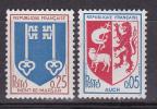 N° 1468 Et 1469 Série Armoiries De Ville:Auch Et Mont-de-Marsan - France