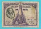 SPAGNA 100 PESETAS CERVANTES 15 AGOSTO 1928 - [ 1] …-1931 : Prime Banconote (Banco De España)