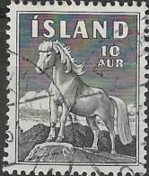 ICELAND 1958 Icelandic Pony  - 10a. - Black FU - Usati