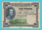 SPAGNA 100 PESETAS FELIPE II 1 DE JULIO 1925 - [ 1] …-1931 : Prime Banconote (Banco De España)